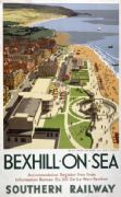 Bexhill on Sea, Sussex. Vintage Southern Railway Travel Poster by Ronald Lampitt. 1947